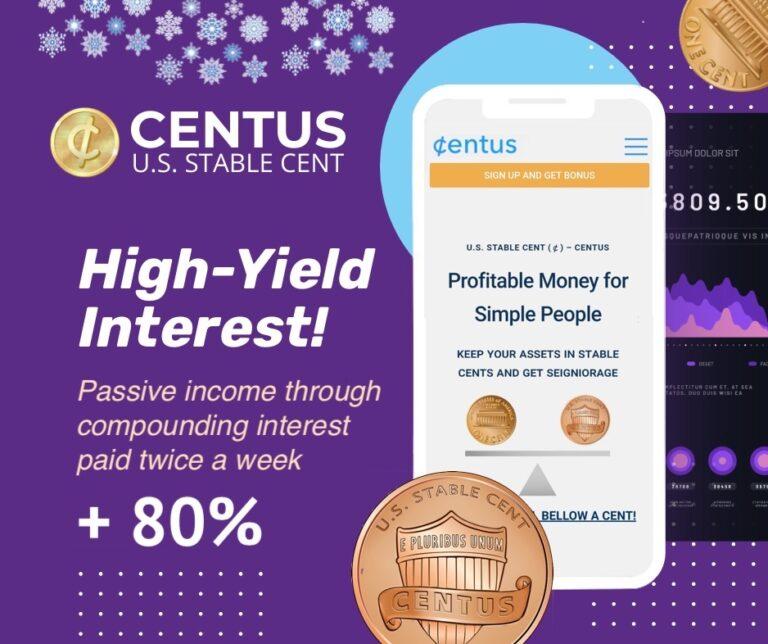 Buy CENTUS and Get 80% Seigniorage